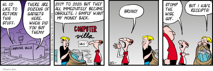 Comic Strip Darrin Bell  Rudy Park 2020-10-31 technology gadget