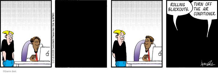Comic Strip Darrin Bell  Rudy Park 2020-12-21 electricity
