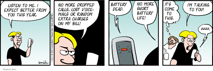Comic Strip Darrin Bell  Rudy Park 2021-01-23 cell phone