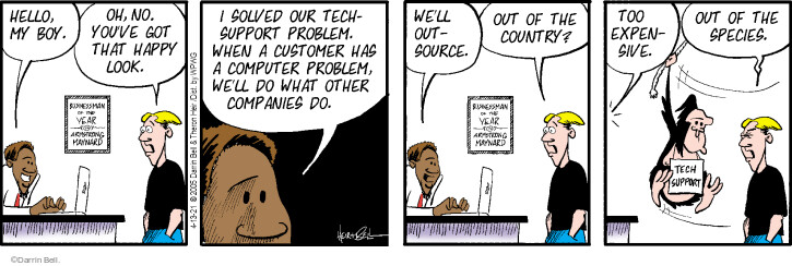 Comic Strip Darrin Bell  Rudy Park 2021-04-13 customer support