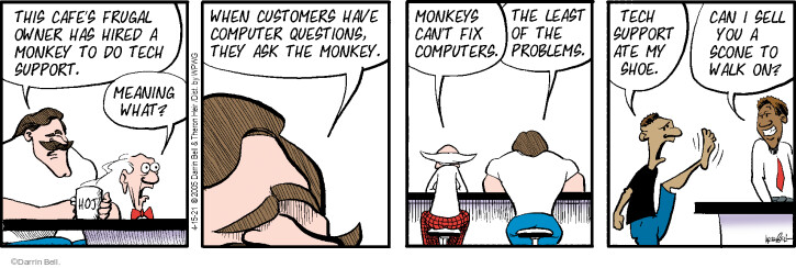 Comic Strip Darrin Bell  Rudy Park 2021-04-15 customer support