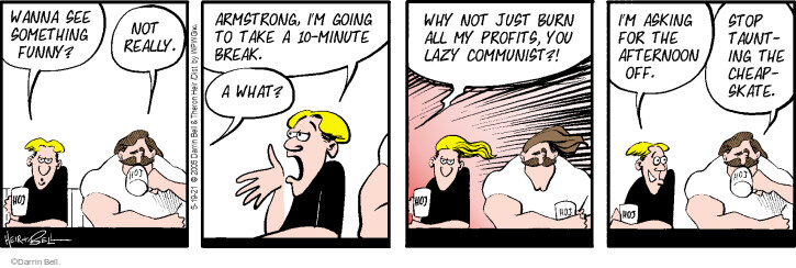 Comic Strip Darrin Bell  Rudy Park 2021-05-19 business owner