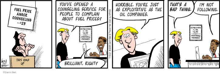 Comic Strip Darrin Bell  Rudy Park 2021-07-13 oil company