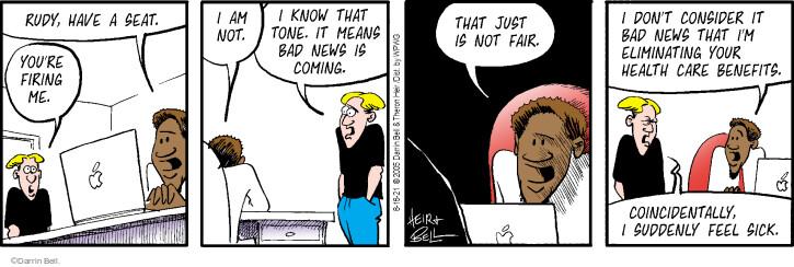 Comic Strip Darrin Bell  Rudy Park 2021-08-16 health