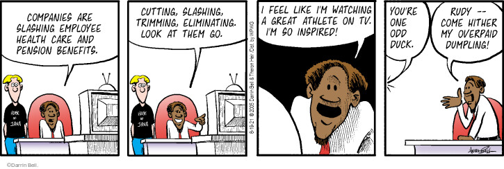 Comic Strip Darrin Bell  Rudy Park 2021-08-19 watch television