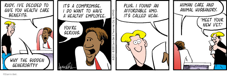 Comic Strip Darrin Bell  Rudy Park 2021-08-20 give
