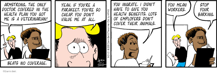 Comic Strip Darrin Bell  Rudy Park 2021-08-21 give