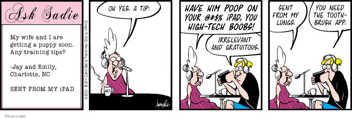 Comic Strip Darrin Bell  Rudy Park 2021-09-20 your