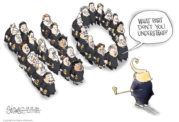 Signe Wilkinson  Shrubbery 2020-12-10 Donald Trump