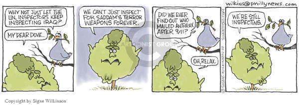 Signe Wilkinson  Shrubbery 2003-01-28 chemical weapon