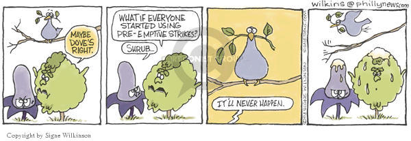 Signe Wilkinson  Shrubbery 2003-01-30 everyone