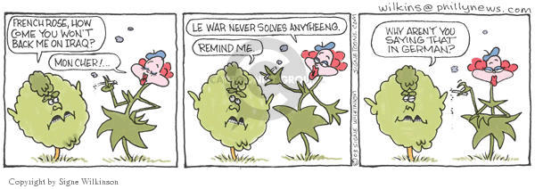 Signe Wilkinson  Shrubbery 2003-02-05 foreign