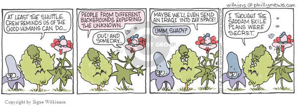 Signe Wilkinson  Shrubbery 2003-02-06 out