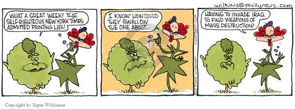 Signe Wilkinson  Shrubbery 2003-05-21 chemical weapon