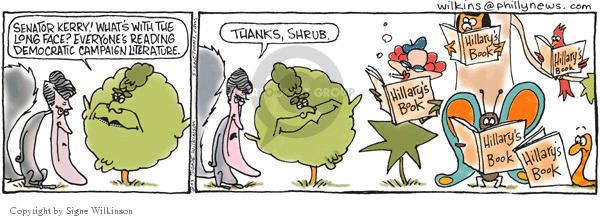 Signe Wilkinson  Shrubbery 2003-06-24 everyone