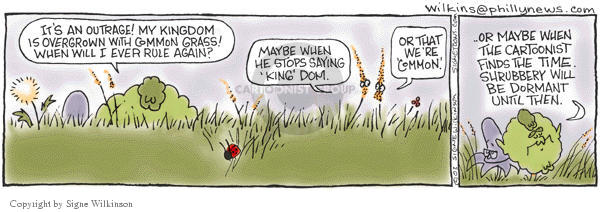 Signe Wilkinson  Shrubbery 2003-07-31 king