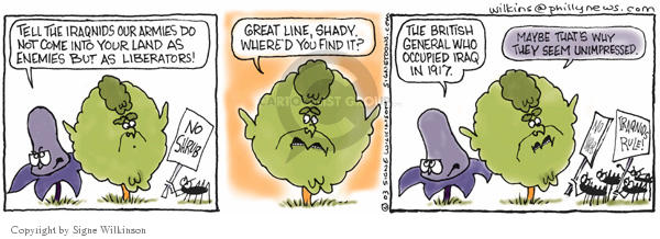 Signe Wilkinson  Shrubbery 2003-04-22 our