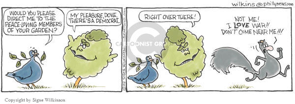 Signe Wilkinson  Shrubbery 2002-12-10 olive branch