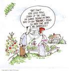 Cartoonist Signe Wilkinson  Signe Wilkinson's Gardening Images 1999-05-01 plant