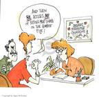 Cartoonist Signe Wilkinson  Signe Wilkinson's Gardening Images 1999-10-01 gardening