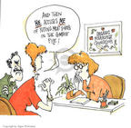 Cartoonist Signe Wilkinson  Signe Wilkinson's Gardening Images 1999-10-01 horticulture