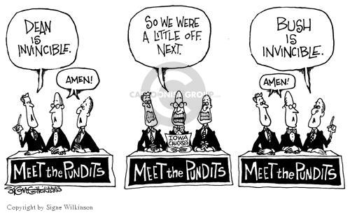 Cartoonist Signe Wilkinson  Signe Wilkinson's Editorial Cartoons 2004-01-22 2004 election