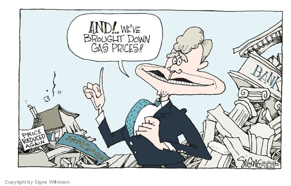 Signe Wilkinson  Signe Wilkinson's Editorial Cartoons 2008-10-20 George Bush
