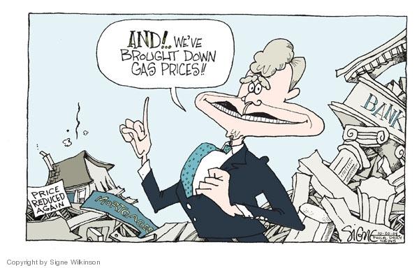 Signe Wilkinson  Signe Wilkinson's Editorial Cartoons 2008-10-20 stock market