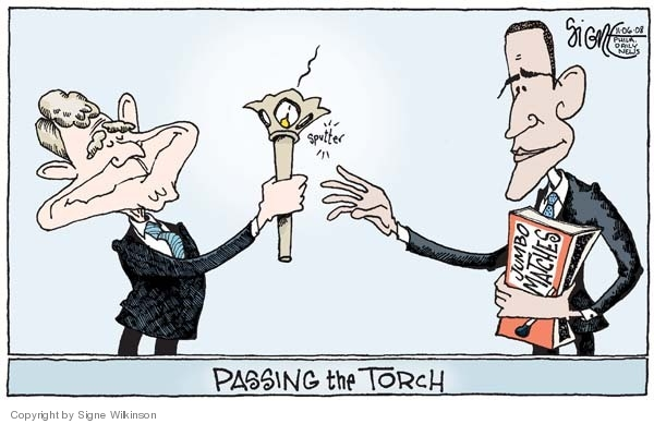 Signe Wilkinson  Signe Wilkinson's Editorial Cartoons 2008-11-06 George Bush