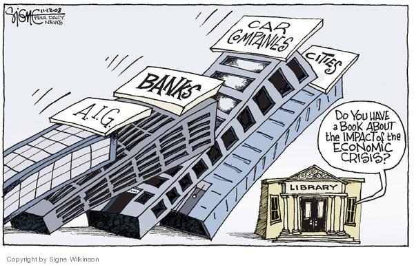 Signe Wilkinson  Signe Wilkinson's Editorial Cartoons 2008-11-12 financial crisis