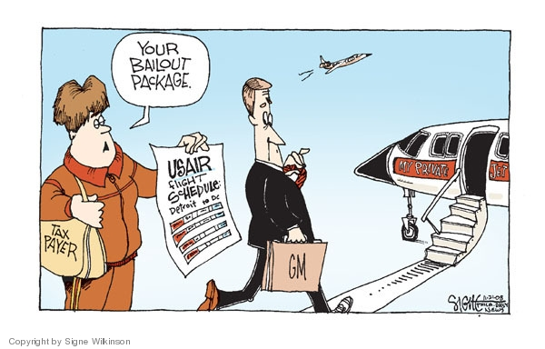 Cartoonist Signe Wilkinson  Signe Wilkinson's Editorial Cartoons 2008-11-21 recession
