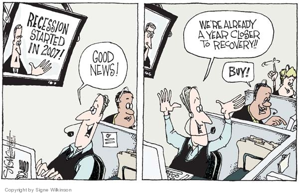 Cartoonist Signe Wilkinson  Signe Wilkinson's Editorial Cartoons 2008-12-03 recession