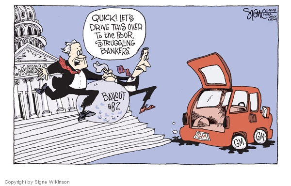 Signe Wilkinson  Signe Wilkinson's Editorial Cartoons 2008-12-08 economics