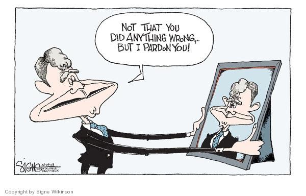 Cartoonist Signe Wilkinson  Signe Wilkinson's Editorial Cartoons 2008-12-09 George W. Bush