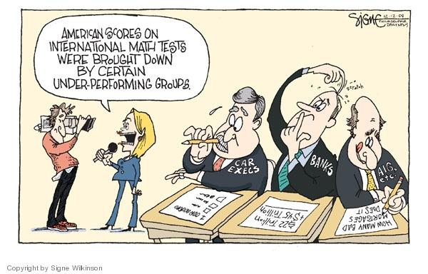 Cartoonist Signe Wilkinson  Signe Wilkinson's Editorial Cartoons 2008-12-12 recession