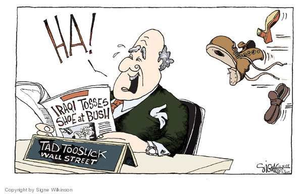 Signe Wilkinson  Signe Wilkinson's Editorial Cartoons 2008-12-16 George Bush