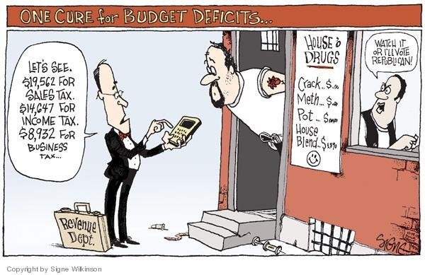 Signe Wilkinson  Signe Wilkinson's Editorial Cartoons 2008-12-19 federal budget