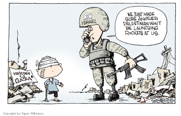 Signe Wilkinson  Signe Wilkinson's Editorial Cartoons 2009-01-06 United States and Israel
