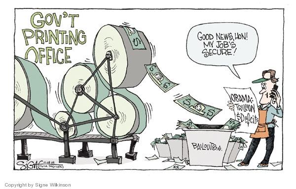 Signe Wilkinson  Signe Wilkinson's Editorial Cartoons 2009-01-08 financial crisis
