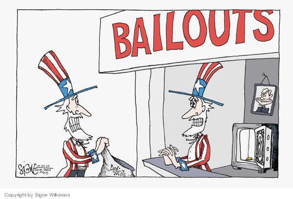 Signe Wilkinson  Signe Wilkinson's Editorial Cartoons 2009-01-09 bail