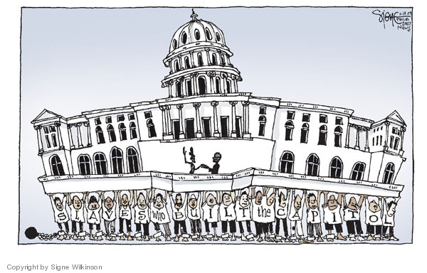 Cartoonist Signe Wilkinson  Signe Wilkinson's Editorial Cartoons 2009-01-19 Chief Justice