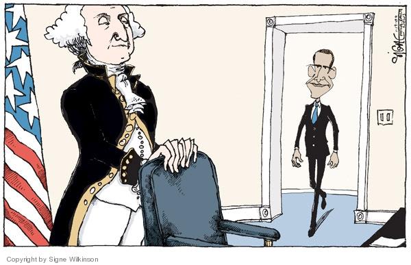Signe Wilkinson  Signe Wilkinson's Editorial Cartoons 2009-01-20 George Washington