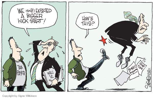 Signe Wilkinson  Signe Wilkinson's Editorial Cartoons 2009-02-12 compensation