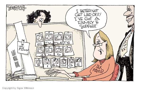 Signe Wilkinson  Signe Wilkinson's Editorial Cartoons 2009-02-16 economic system