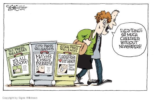 Signe Wilkinson  Signe Wilkinson's Editorial Cartoons 2009-02-24 financial crisis