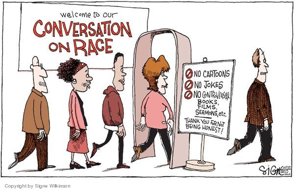 Signe Wilkinson  Signe Wilkinson's Editorial Cartoons 2009-02-25 racism