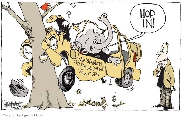 Cartoonist Signe Wilkinson  Signe Wilkinson's Editorial Cartoons 2009-02-26 oversight