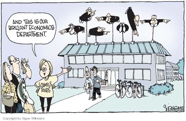 Cartoonist Signe Wilkinson  Signe Wilkinson's Editorial Cartoons 2009-03-26 college professor