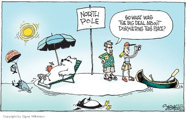 Signe Wilkinson  Signe Wilkinson's Editorial Cartoons 2009-04-09 ice