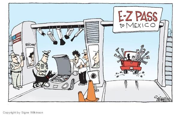 Cartoonist Signe Wilkinson  Signe Wilkinson's Editorial Cartoons 2009-04-17 border